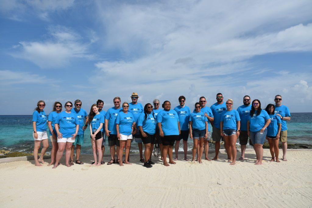 Team on the Beach